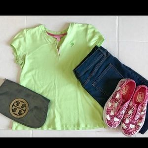 Lilly Pulitzer Collarless Polo Shirt